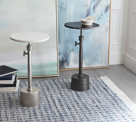 Melvin Marble Adjustable Height Side Table