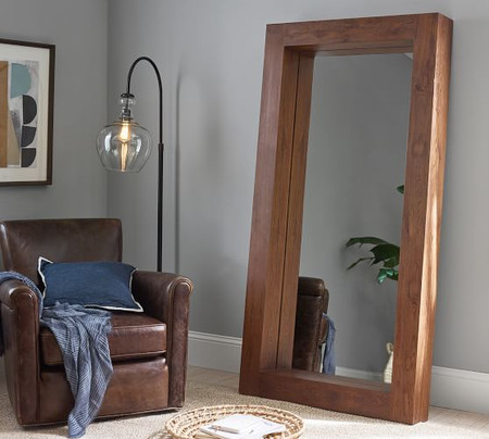 Menlo Reclaimed Teak Floor Mirror