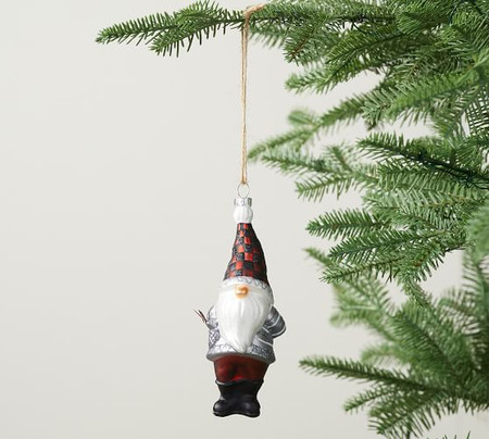 Mercury Glass Gnome Ornament
