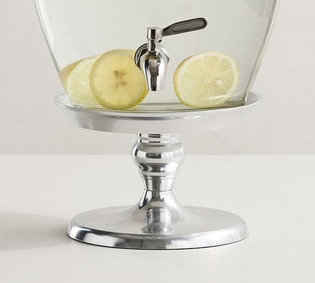 Silver Metal Drink Dispenser Stand