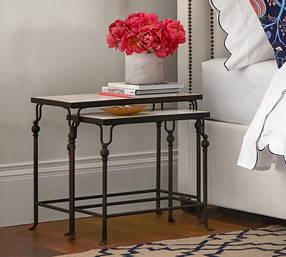 Monty Marble Nesting Side Tables Pottery Barn Australia