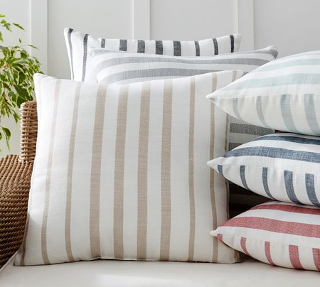 Leandra Striped Reversible Indoor/Outdoor Cushion