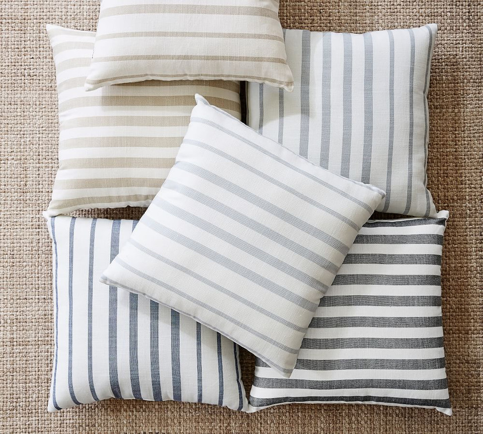 Leandra Striped Reversible Indoor Outdoor Cushion