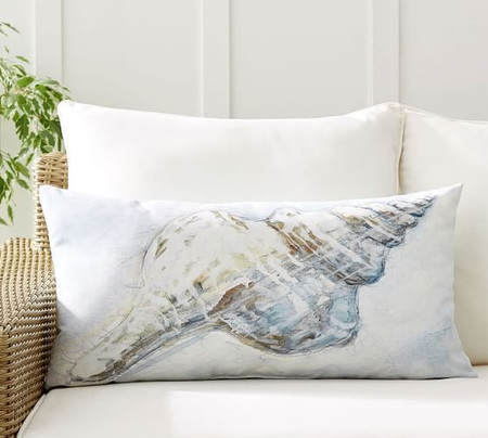 Pacific Shell Printed Indoor/Outdoor Lumbar Cushion