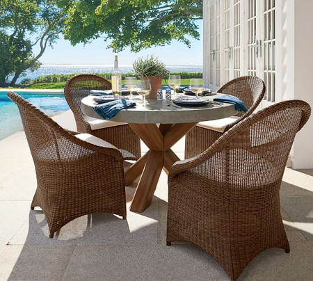 Palmetto All-Weather Wicker Dining Chair - Honey