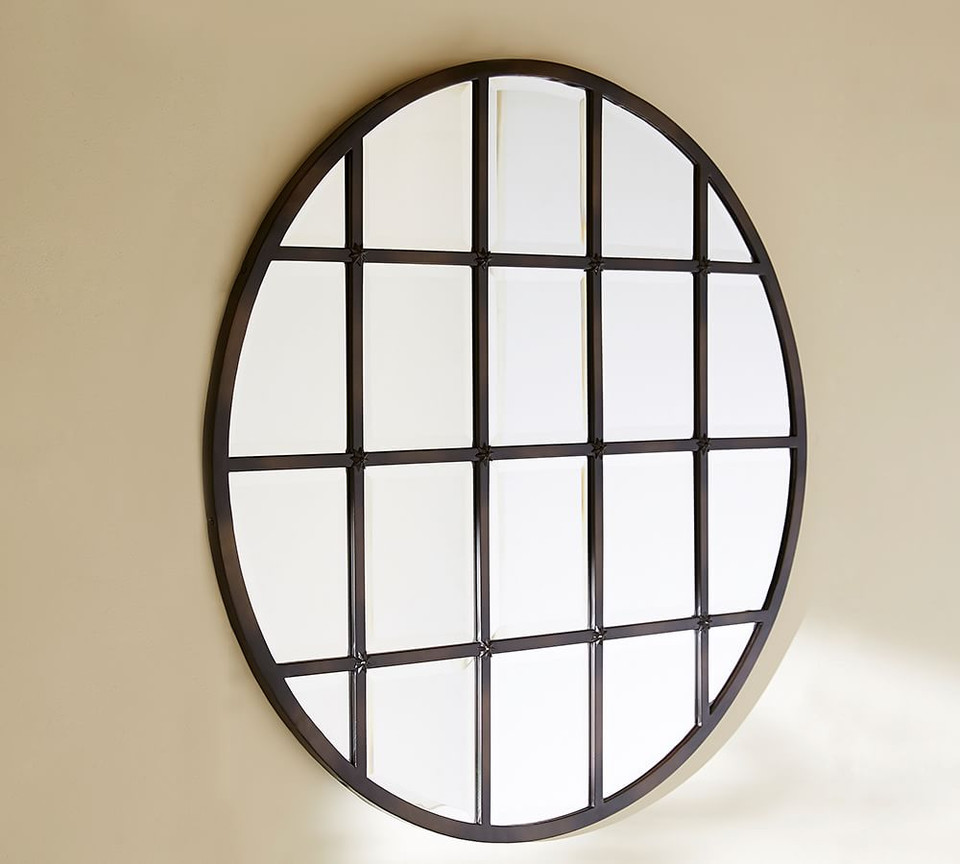 Eagan Multipanel Round Mirror