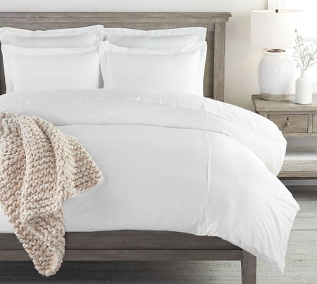 PB Essential Quilt Cover & Pillowcase - White