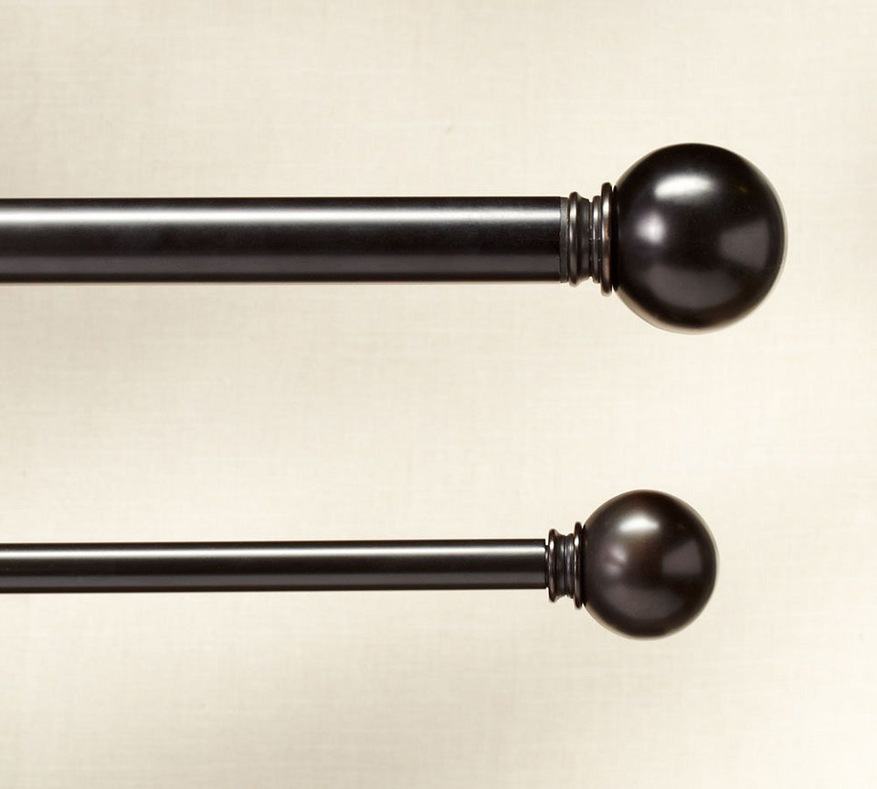 PB Standard Ball Finial & Curtain Rod - Antique Bronze finish