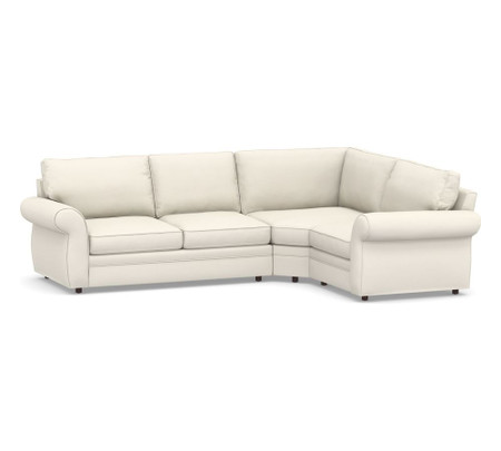Pearce Roll Arm Upholstered 3-Piece Sectional with Wedge (307 cm)