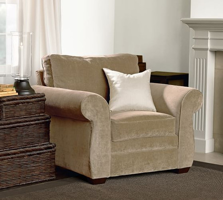 Pearce Roll Arm Upholstered Armchair (117 cm)