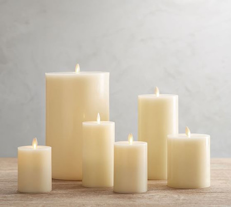 Flickering Flameless Wax Pillar Candle
