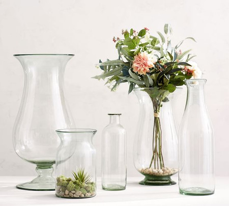 Recycled Clear Glass Vases