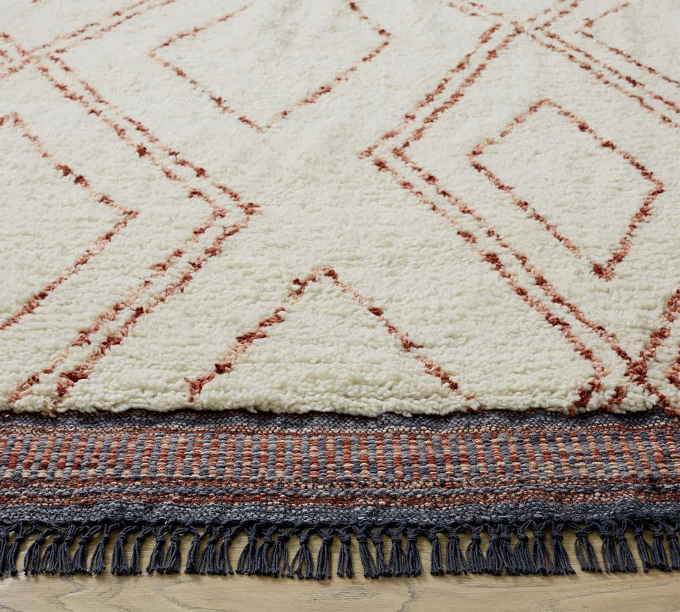 Renon Hand-Knotted Shag Rug