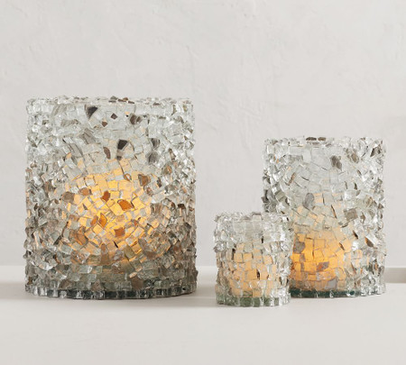 Rock Crystal Candle Holders