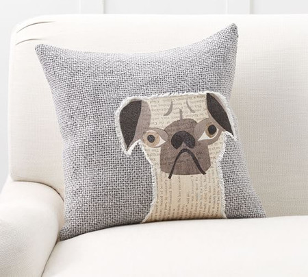 Rufus Applique Dog Cushion Cover