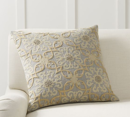 Sawyer Medallion Embroidered Cushion Cover