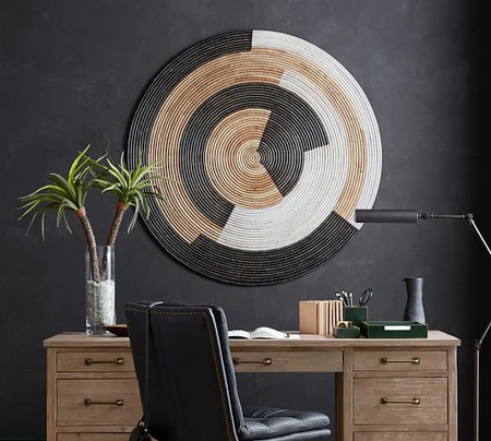 Sierra Handwoven Rattan Disc Wall Art