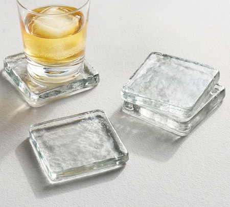 Slab Glass Coasters, Set of 4