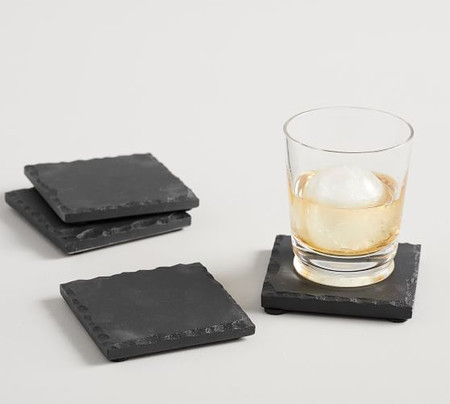 Slate Square Coasters, Set of 4