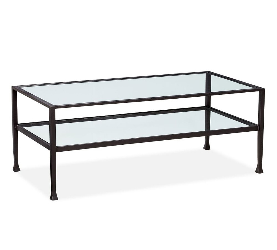 Tanner Rectangular Coffee Table - Bronze finish | Pottery ...