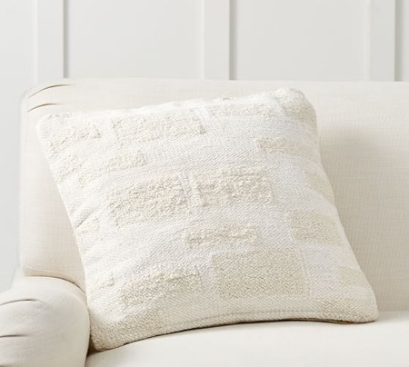 Textured Geo Squares Cushion Cover