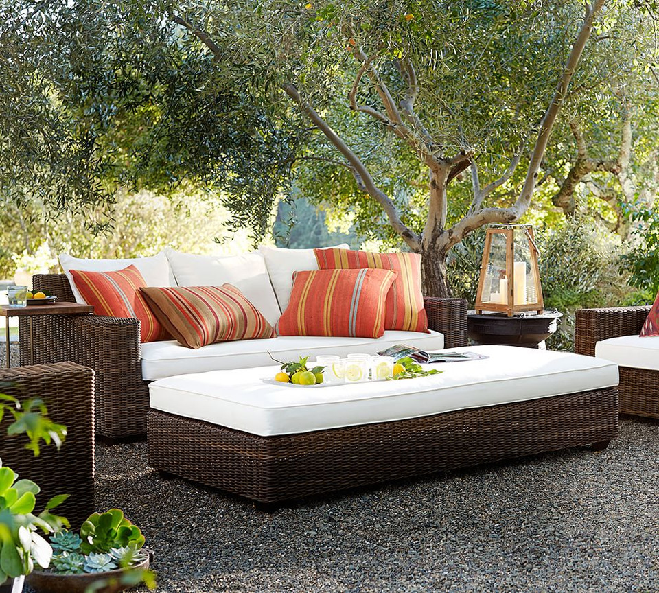 Torrey All-Weather Wicker Square Arm Sofa
