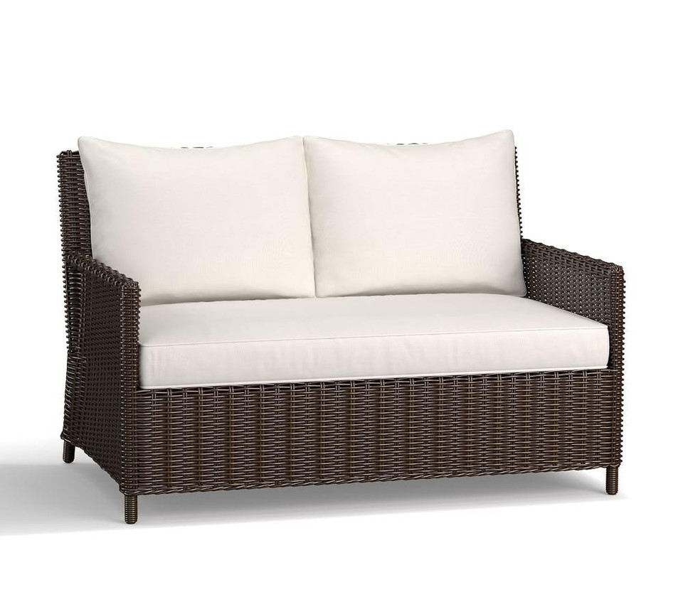 Torrey Patio All-Weather Wicker Sofa, Espresso