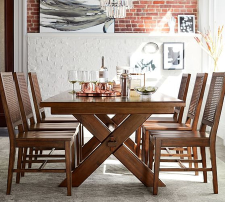 Toscana Extending Dining Table - Tuscan Chestnut