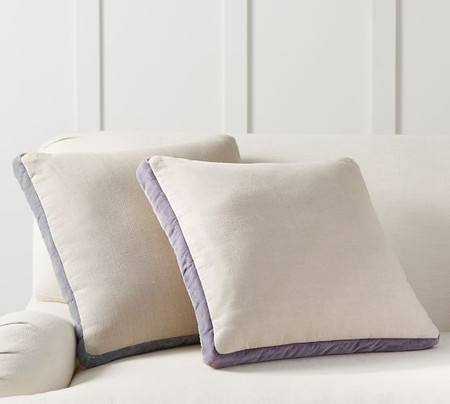 Velvet Linen Gusset Cushion Cover