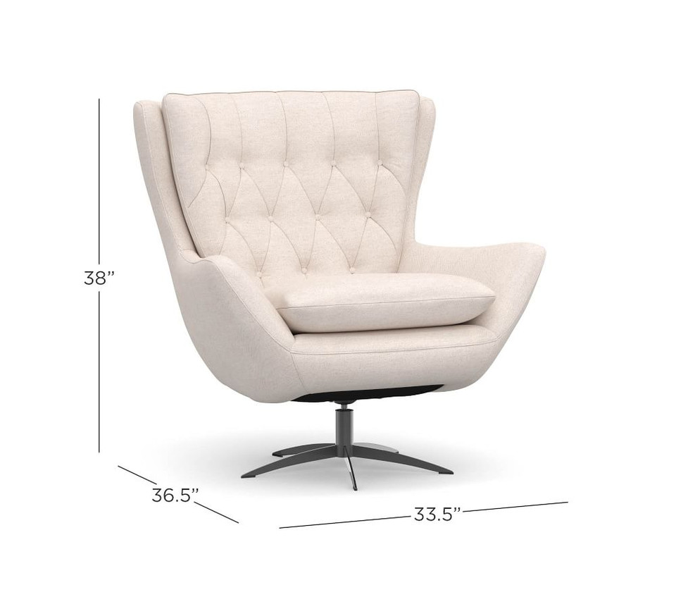 Wells Upholstered Swivel Armchair