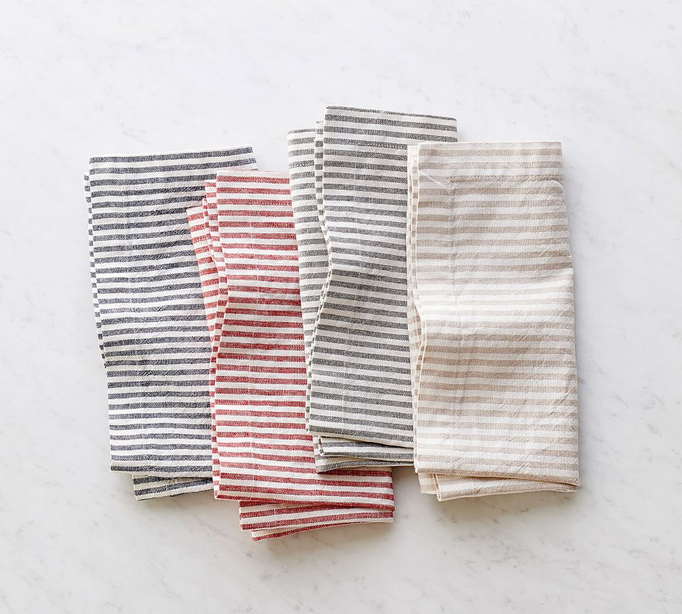 Wheaton Stripe Napkin - Charcoal