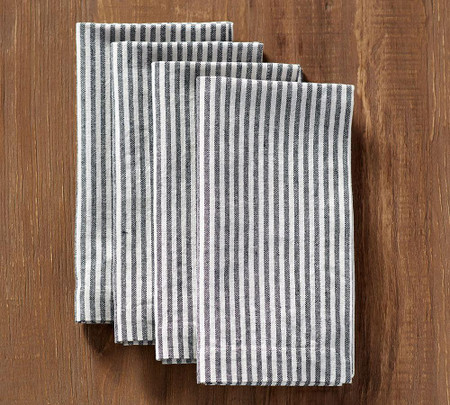 Wheaton Stripe Napkin - Navy