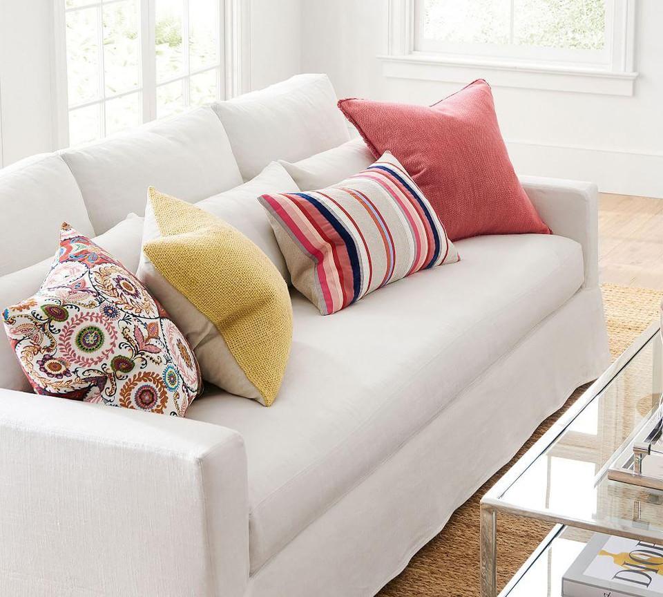 Willa Fringe Textured Cushion Cover Pottery Barn Australia