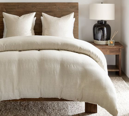 Willow Linen Cotton Twill Quilt Cover & Pillowcases - Flax