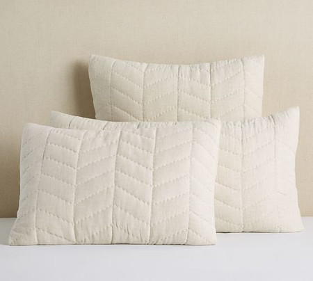 Willow Linen Cotton Twill Reversible Quilted Pillowcases